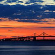 Late Evening Chesapeake Sunset Poster