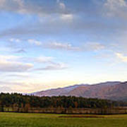 Late October Dusk At Cades Cove Poster