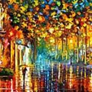 Late Stroll Miami Poster by Leonid Afremov