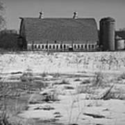 Late Winter At A Wisconsin Farm Poster