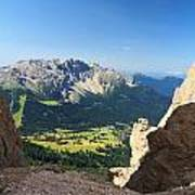 Latemar Mount From Vaiolon Pass Poster