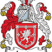 Lauder Coat Of Arms Irish Poster