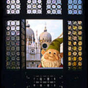 Laughing Gnome In Venice Poster