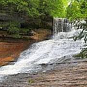 Laughing Whitefish Waterfall Poster