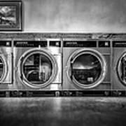 Laundromat Art Poster
