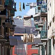 Laundry Ix Color Venice Italy Poster