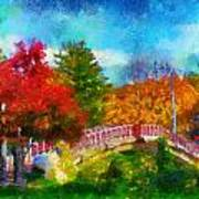 Laura Bradley Park 1922 Japanese Bridge 02 Poster