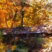 Laura Bradley Park Foot Bridge 02 Poster