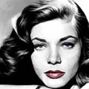 Lauren Bacall Large Size Portrait Poster