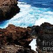Lava Rock On Aruban Coast Poster