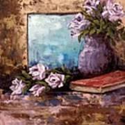 Lavendar Roses Poster