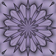 Lavender Abstract Flower Poster