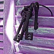 Lavender Cottage Keys Poster