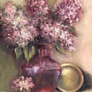 Lavender Hydrangeas Poster