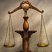 Lawyer - Scale - Fair And Just Poster