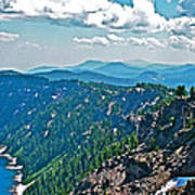 Layers Of Mountains From Watchman Overlook In Crater Lake National Park-oregon  Poster