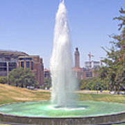 L B J Library Fountain Poster