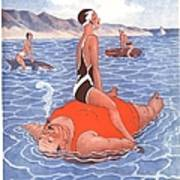 Le Sourire 1930s France Holidays Poster