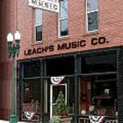 Leach's Music Poster