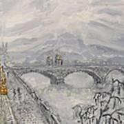 Leaden Winter In Golden Prague  Poster