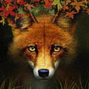 Leaf Fox Poster
