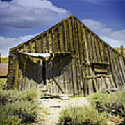 Leaning Barn Of Bodie California Poster