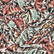 Leaves Abstraction II Poster