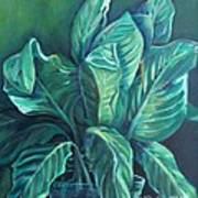 Leaves In A Vase Poster by Ellen Howell