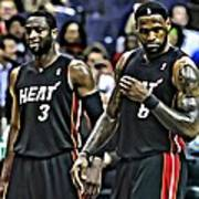 Lebron James And Dwyane Wade Poster