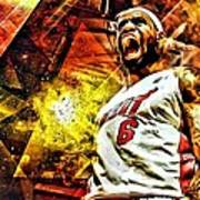 Lebron James Art Poster Poster