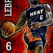 Lebron James Oil Painting-original Poster by Dan Troyer