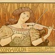Lecons De Violon Poster by Gianfranco Weiss