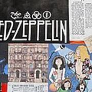 Led Zeppelin Past Times Poster