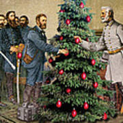 Lee And Grant At Appomattox Poster