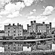Leeds Castle Black And White Poster