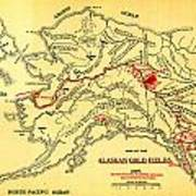 Lees Map Of The Alaskan Gold Fields 1897 Poster