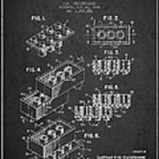 Lego Toy Building Brick Patent - Dark Poster by Aged Pixel