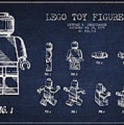 Lego Toy Figure Patent Drawing Poster