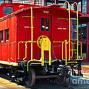 Lehigh New England Railroad Caboose 583 Poster