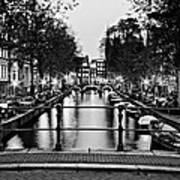 Leidsegracht Canal At Night / Amsterdam Poster