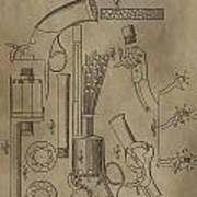 Lemat Revolver Patent Poster