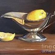 Lemon In Saucer Poster
