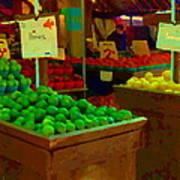 Lemons And Limes Farmers Market Food Stalls Market Vendors Vegetable Food Art Carole Spandau Poster