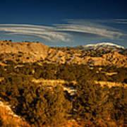 Lenticular Clouds Near Tesuque Pueblo Nm Poster