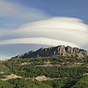 Lenticular Clouds Over Dornajo Mountain Poster