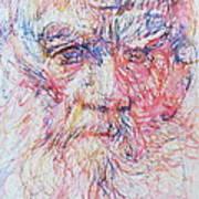 Leo Tolstoy/ Colored Pens Portrait Poster