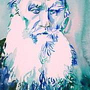 Leo Tolstoy Watercolor Portrait.2 Poster