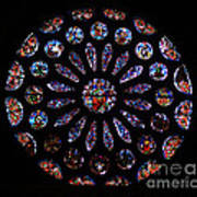 Leon Spain Cathedral Rosette Poster