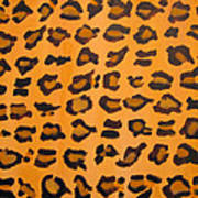 Leopard Print Hand Painted Leopard Print  Poster
