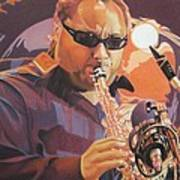 Leroi Moore Purple And Orange Poster